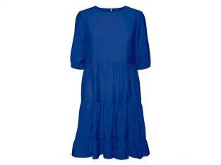 Blå kort kjole