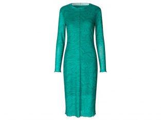 Grøn mønstret kjole