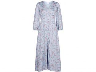 Lang lyseblå kjole