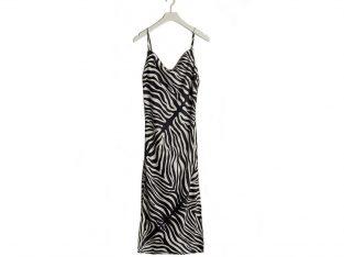 Zebra mønstret kjole