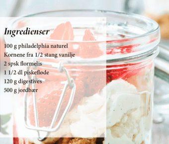 Jordbær cheesecake-trifli