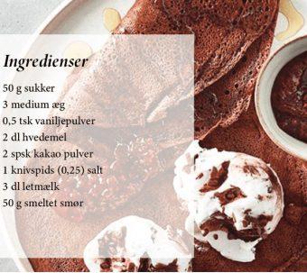Kakaopandekager med vaniljeis